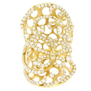 Other Glk 18k Yellow Gold 1.65ct Diamond Filigree 3d Butterfly Ornament Ring