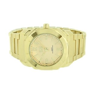 Gold Tone Watch Ice Master Stainless Steel Back Analog Display Mens Mm