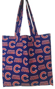 Other Handmade Chicago Cubs Chicago Baseball Tote in Blue