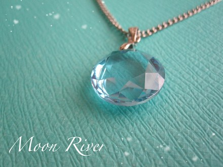 """Other Handmade Sky Blue Pendant Costume Jewelry Necklace - """"Moon River"""""""