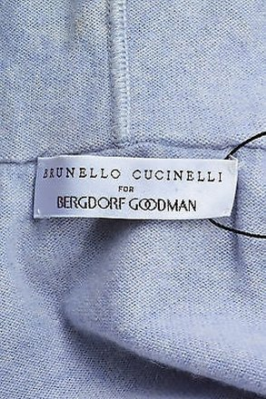 Brunello Cucinelli For Bergdorf Goodman Pale Blue Cashmere Cropped Hoodie #19742180 - Sweaters & Pullovers delicate