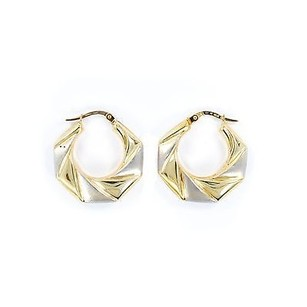 Other Hoop Earrings 14k White Yellow Gold