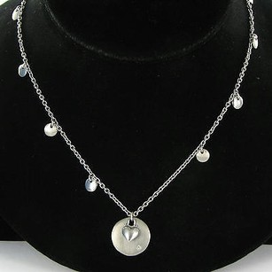Hot Diamonds Circle Heart Necklace 0.01cts Diamond Sterling Silver
