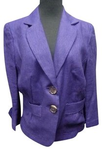 Other Insight York Royal Purple Linen Lined Button Front Blazer Sma9857