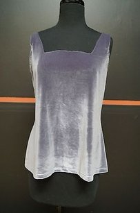 Ios Gray Adjustable Straps Padded Cups Square Neck Velvet Camisole B 15804