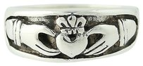 Irish Claddagh Ring Sterling Silver Mens Band Wedding Heritage 9.75-10