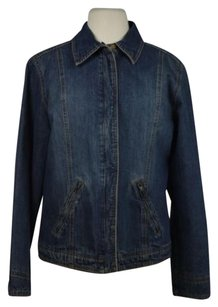 Other At Denim Womens Med Wash Jean Casual Denim Long Sleeve Coat Womens Jean Jacket