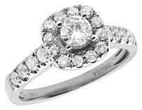 Other 14k White Gold Genuine Diamond Ladies Halo Solitaire Engagement Ring 1.0ct