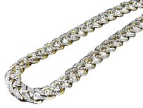 Mens Solid 10k Yellow Gold Miami Cuban Link Mm Real Diamond Chain Necklace 5ct