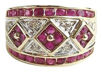 Other Ruby Diam Ring Diams .08 Carat T.w. 14k Yellow Gold 7.3g Max062930