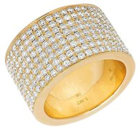 Other Mens 14k Yellow Gold Genuine Diamond Eternity 15mm Wedding Band Ring 5.39ct