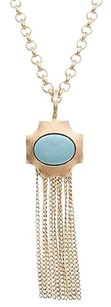 Stephanie Kantis 24k Gold-plated Turquoise Fringe Necklace