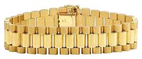 Other Mens 10k Yellow Gold Solid Link Designer Inches Presidential Bracelet Mm