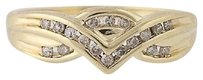 Other Diamond Ring - 10k Yellow Gold 34 Womens .15ctw