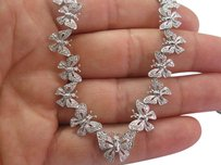 Other 18kt Butterfly Diamond White Gold Necklace 1.00ct 17