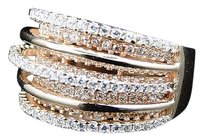 Other Ladies 925 Silver Skyline Lab Diamond Bridal Ring Set In Rose Gold Finish