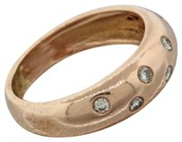 Other Vintage Estate 14k Solid Rose Gold .25ctw Diamond Band Ring