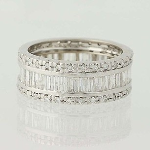 Diamond Eternity Band - 18k White Gold Womens Ring 1.65ctw