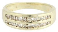 Diamond Ring - 10k Yellow Gold Wedding Band Brown .46ctw