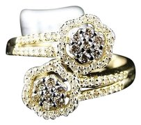 10k,Ladies,Yellow,Gold,Round,Cut,Brown,Diamond,Prong,Wedding,Ring,Band