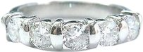 Platinum,5-stone,Round,Cut,Diamond,Bar,Setting,Anniversary,Band,Ring,1.25ct