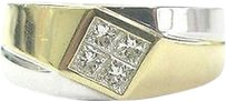 Other 18kt,Mens,Princess,Cut,Diamond,2-tone,Ring,.60ct