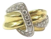 18kt,Designer,Diamond,Jewelry,Band,Ring,Solid,Yellow,Gold,.60ct