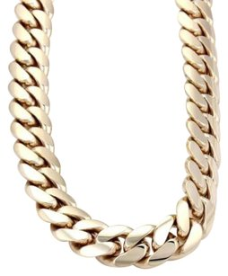 14k Yellow Gold Heavy Curb Link Chain Necklace 25.5 Long 260 Grams