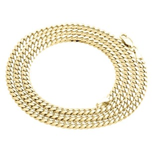 Other Mens Real 10k Yellow Gold Super Solid Miami Cuban Link Chain 4mm Necklace 22-30