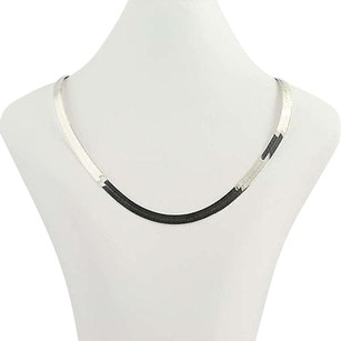 Other Herringbone Chain Necklace - Sterling Silver 925 Italy 20 6.5mm Italy Unisex