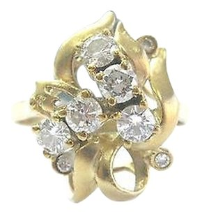 18kt,Round,Cut,Diamond,Cluster,Yellow,Gold,Jewelry,Ring,.78ct