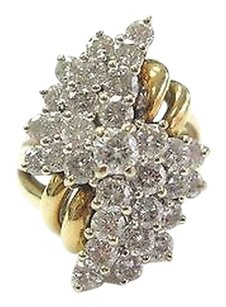 Fine,Cluster,Diamond,Jewelry,Ring,4.00ct,Yellow,Gold,14kt,Vs2,-,Si1