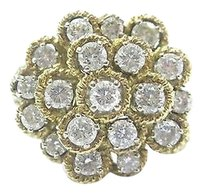 Other 18kt,Round,Cut,Diamond,Cluster,Circular,Yellow,Gold,Jewelry,Ring,2.28ct