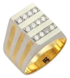 H. Stern Diamonds Platinum 18k Yellow Gold Rectangular Ring - 7.25