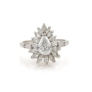 Other Estate 2.10ct Diamond Platinum Cocktail Solitaire Ring