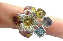 Fine,18kt,Multi,Gem,Sapphire,Diamond,Jewelry,Ring,