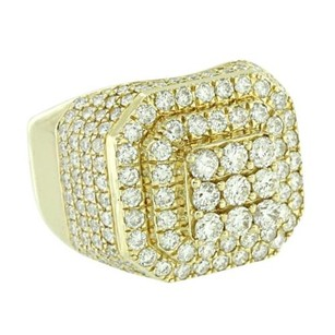 Other Mens 14k Yellow Gold Round Real Diamond Pinky Ring 3.65 Ct Wedding Engagement