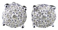 Other 14k,White,Gold,Genuine,Diamond,Round,Solitaire,Look,Stud,Earrings,1.25,Ct
