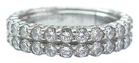 18kt,Round,Cut,Diamond,2-row,White,Gold,Eternity,Band,Ring,2.70ct