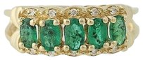 Other Emerald Diamond Ring - 14k Yellow Gold Five-stone With Accents 1.29ctw