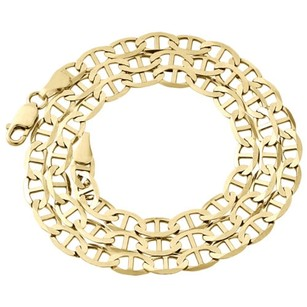 Other Real 10k Yellow Gold Solid Flat Mariner Chain 6mm Necklace Plain 18-30 Inches