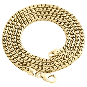Other 10k Yellow Gold Solid Franco Box Chain Closed Link 3.50mm Necklace - Inch