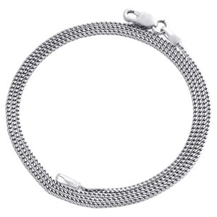 Other 10k White Gold Solid Franco Box Chain Closed Link 0.85mm Necklace - Inches