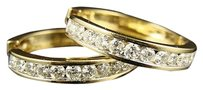 14k,Ladies,Yellow,Gold,Round,Cut,Si,Diamond,Hoops,Earrings,2.0,Ct