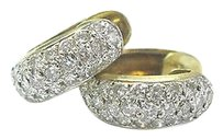 Other 18kt,Round,Cut,Diamond,Pave,Yellow,Gold,Hoop,Earrings,1.25ct