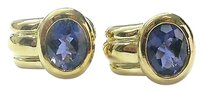 Other 18kt,Iolites,Huggie,Yellow,Gold,Earrings,13.20ct