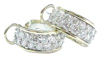 18kt,Round,Cut,Diamond,2-tone,Huggie,Earrings,3.25ct,E-vvs2