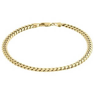 Mens Real 10k Yellow Gold Handmade Solid Miami Cuban Link 4mm Bracelet 8 9