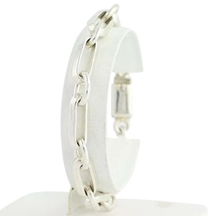 Mexican Link Bracelet 12 - Sterling Silver Box Clasp Unisex