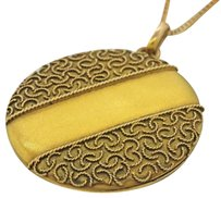 Other 1890s Antique Victorian Estate 9ct Solid Yellow Gold Pendant Locket Necklace